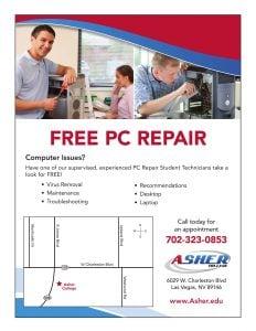 Free PC Repair Flyer