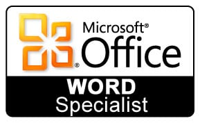 Microsoft Office Word Specialist Logo